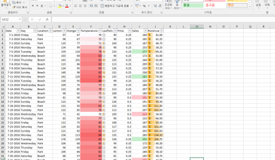 [Excel] Table Visualisation (테이블 깔끔하게 프레젠트 하기)